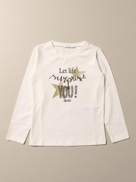 T-shirt Liu Jo in cotone con scritta let life surprise you