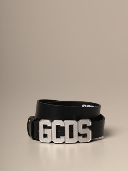 Gcds men: Gcds belt in smooth leather with metal buckle