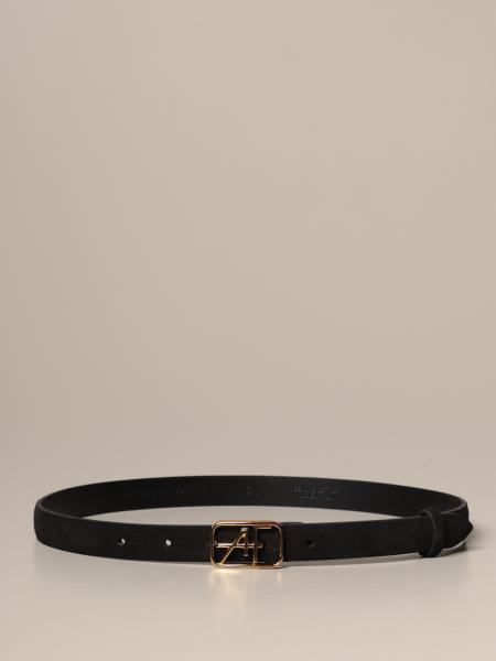 Cintura Alberta Ferretti in pelle con fibbia AF