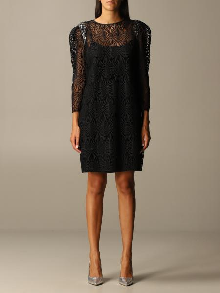 Alberta Ferretti dress in embroidered fabric with jewel straps