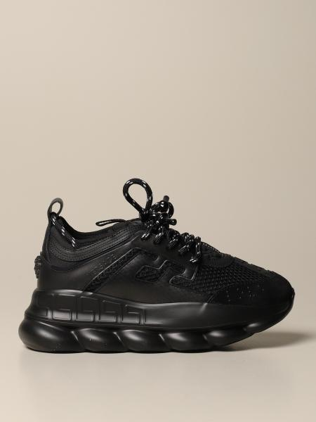 Versace Chain reaction sneakers in rubber leather and mesh