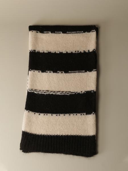 Jucca scarf with two-tone bands
