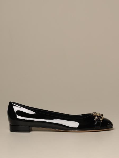 Garda Gancini Salvatore Ferragamo ballet flat in patent leather