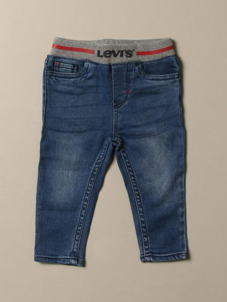 Levi's jeans in used denim with ribbed band