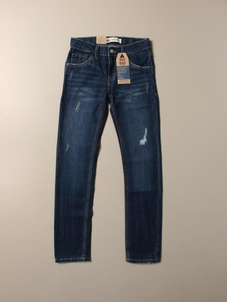 Levi's 510 skinny jeans in used denim with tears