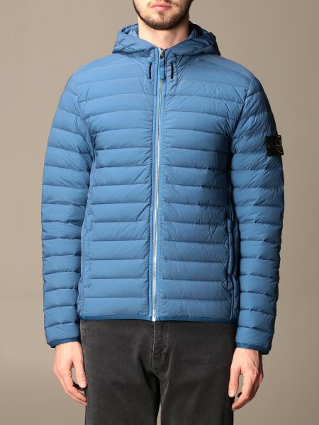 Stone Island men: Stone Island hooded down jacket with zip