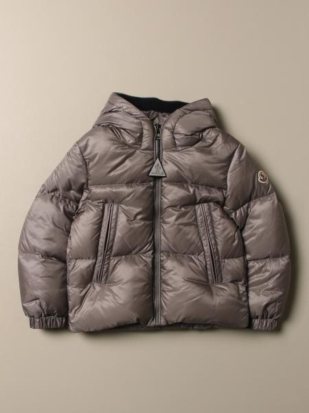 Moncler down jacket in padded nylon with hood
