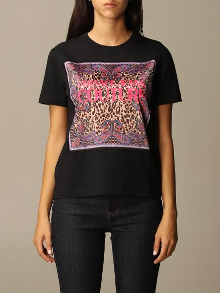 Versace Jeans Couture T-shirt with animalier logo print