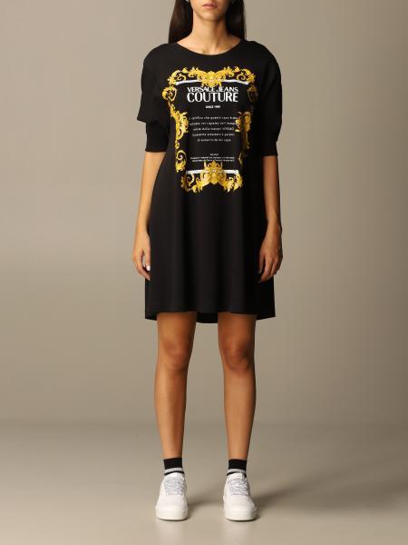 Abito Versace Jeans Couture con logo barocco