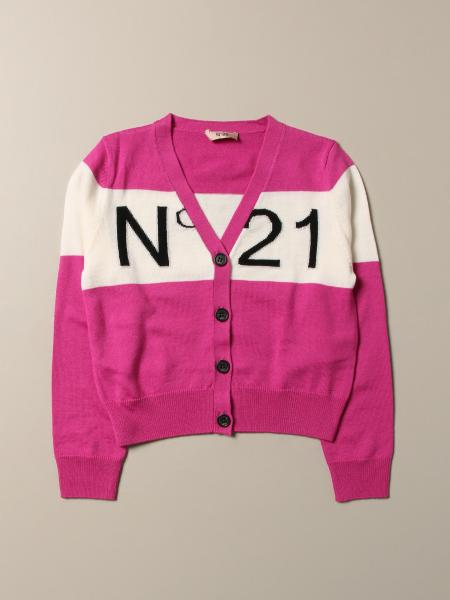 N ° 21 cardigan with big logo