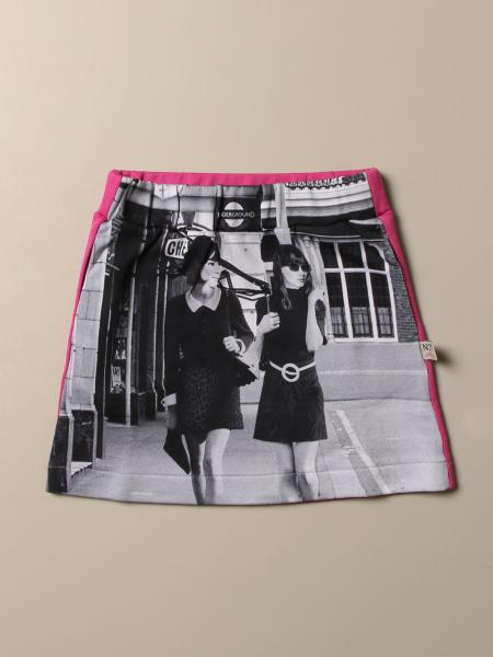 N ° 21 mini skirt in cotton with print