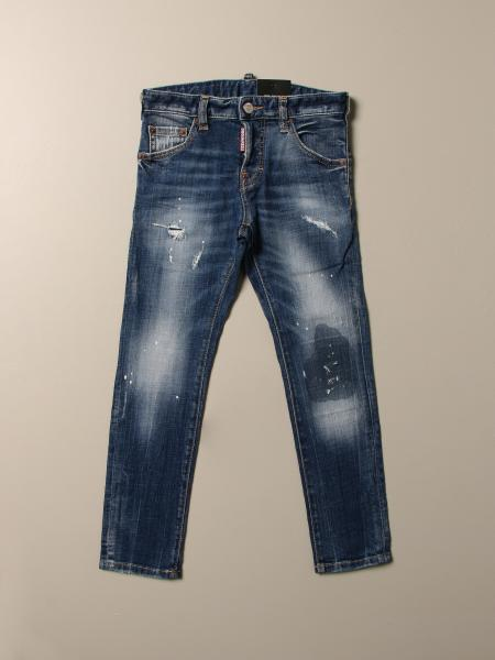 Jeans Dsquared2 Junior in denim used con rotture