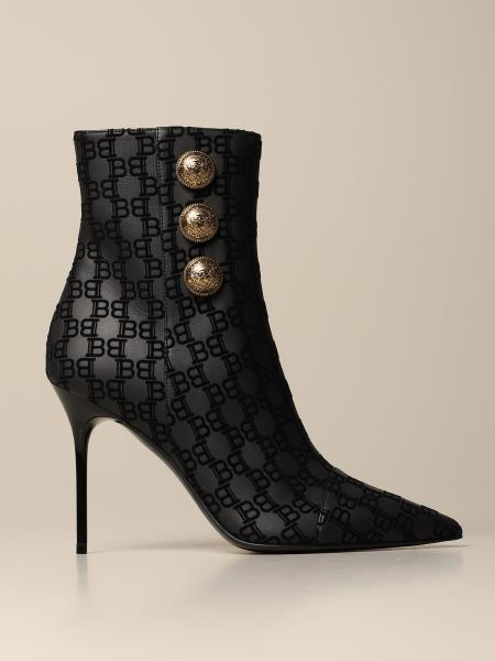 Roni 95 Balmain ankle boot with flocked logo