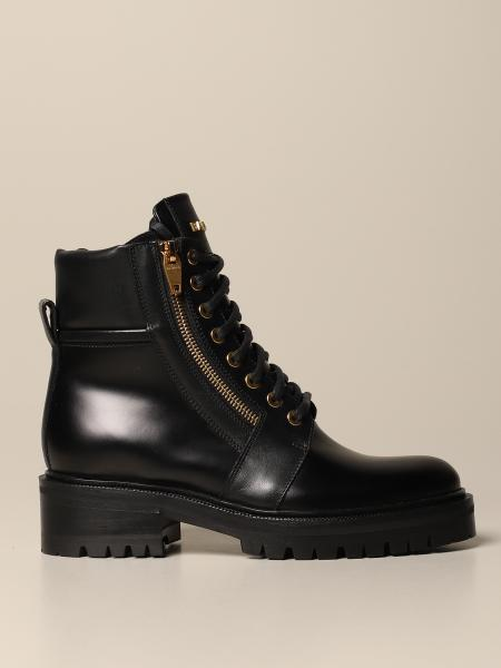 Balmain leather ankle boot with logo