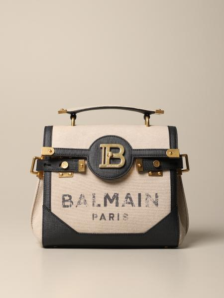 B-Buzz 23 Balmain bag in canvas and leather