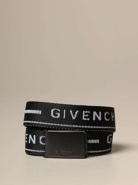 Givenchy belt in logoed canvas