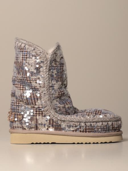 Stivaletto Eskimo Sneakers Mou con paillettes scrivibili