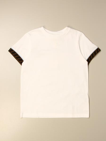 Fendi kids: Fendi T-shirt with all over FF bands