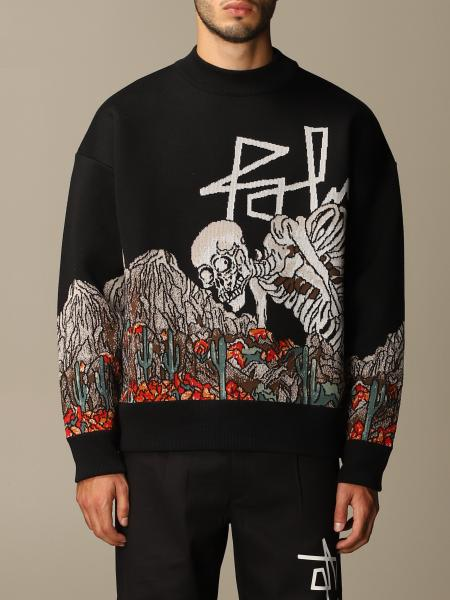 Palm Angels sweater with inlaid skull