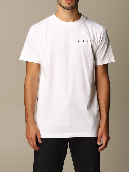 Off White cotton t-shirt with big arrows