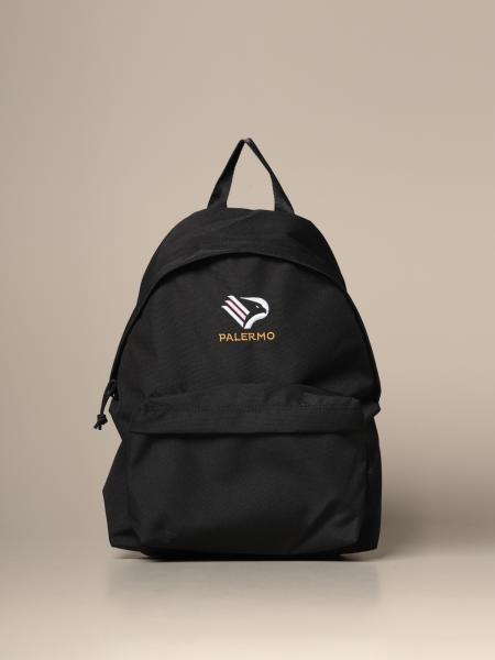 Palermo backpack in canvas with eagle emblem