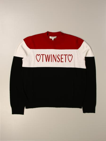 Twinset kids: Twin-set crewneck sweater with logo