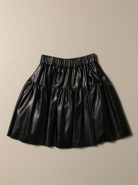 Monnalisa skirt in synthetic leather