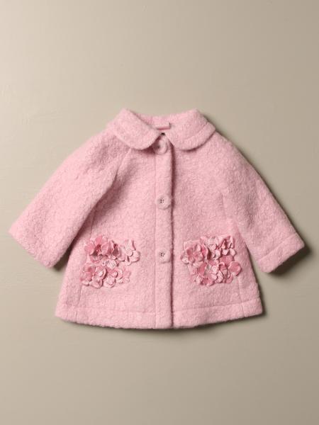 Cappotto Monnalisa in tessuto bouclè con fiori