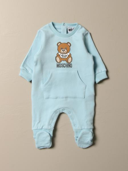 Moschino Baby footed jumpsuit with Teddy logo