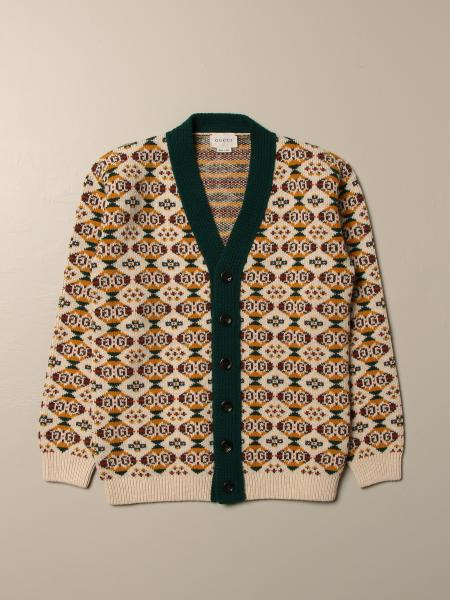 Gucci cardigan in wool with all-over GG motif