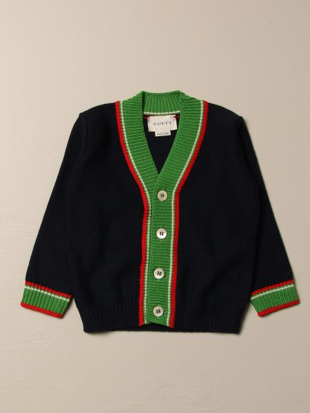 Gucci wool cardigan with striped edges
