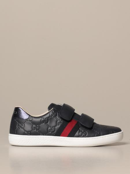 Gucci Ace sneakers with Web bands and embossed GG Supreme logo