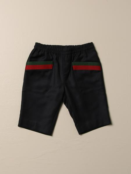 Gucci wool trousers with Web bands
