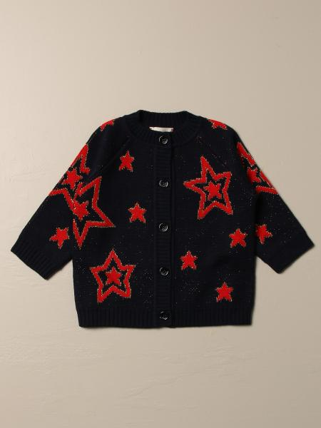 Gucci wool cardigan with stars and logo
