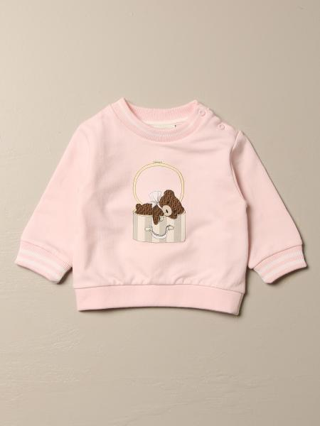 Fendi kids: Fendi cotton sweatshirt with teddy bear
