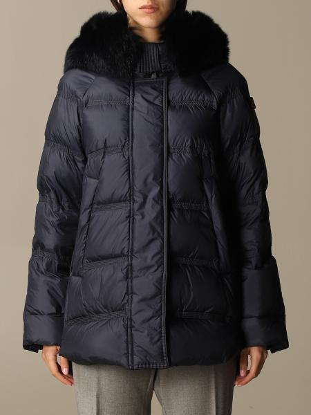 Piumino Peuterey con cappuccio e bordi di pelliccia
