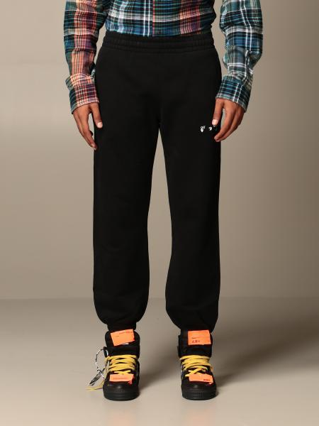 Off White men: Off White jogging trousers with bands