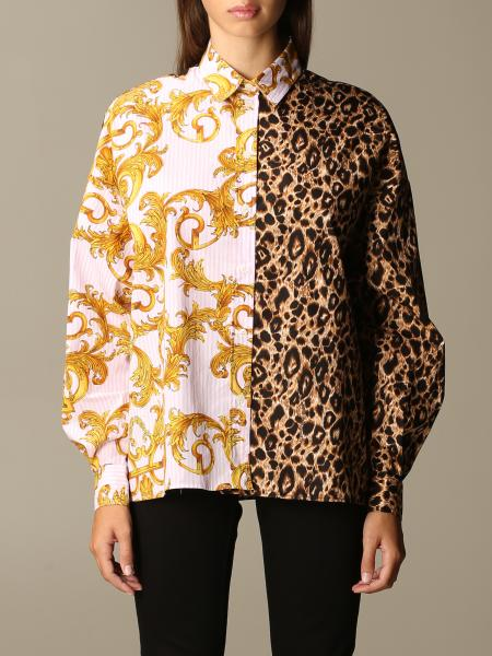 Versace Jeans Couture shirt in baroque and animalier patterned cotton