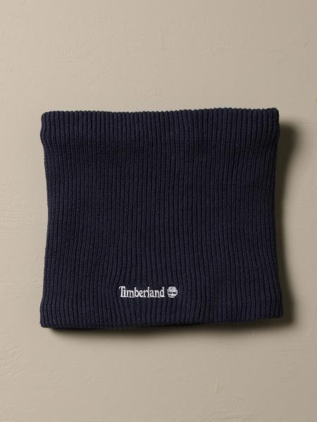 Timberland ribbed cotton collar with logo