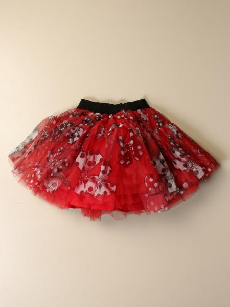 Monnalisa kids: Monnalisa skirt in tulle with bows