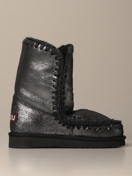 Eskimo 24 limited edition Mou sneakers boot in glitter sheepskin
