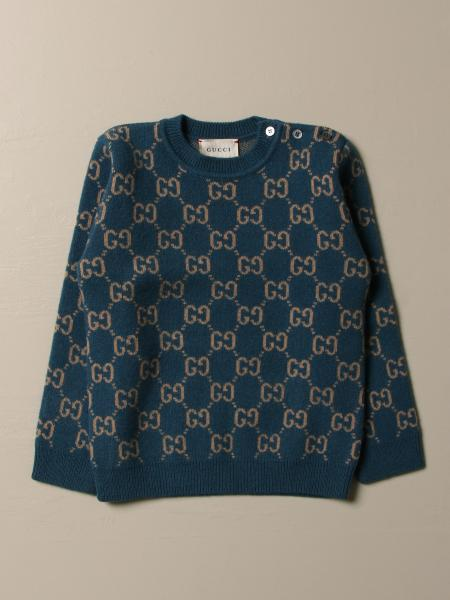 Gucci wool sweater with all over GG beanie