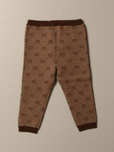 Gucci leggings in wool and cotton blend with GG Supreme pattern