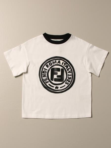 Fendi kids: Basic Fendi T-shirt with logo