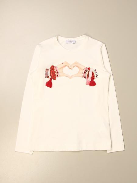 Monnalisa cotton t-shirt with hands print