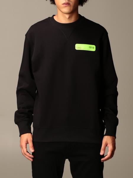 Versace Jeans Couture crewneck sweatshirt with fluo label