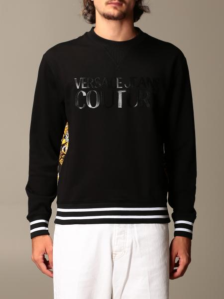 Versace Jeans Couture crewneck sweatshirt with logo and baroque print