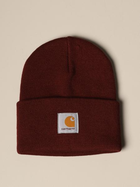 Carhartt hat in ribbed fabric with applied logo