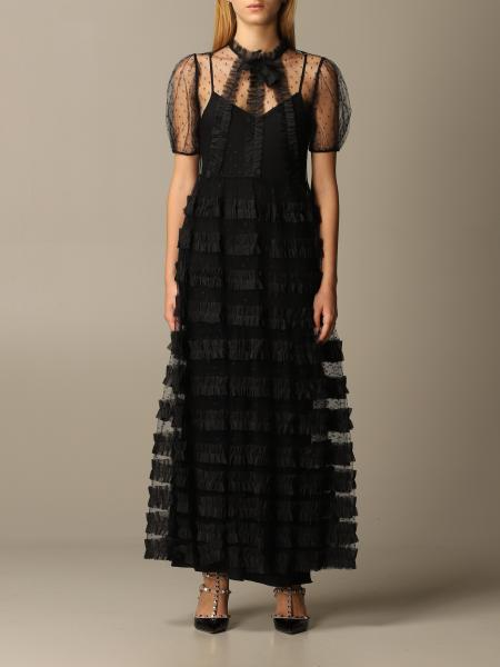 Abito Red Valentino in tulle point d'esprit lurex