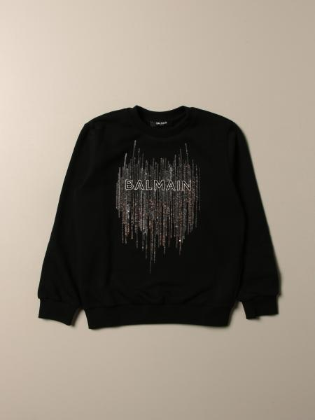 Balmain sweatshirt with logo and sequins